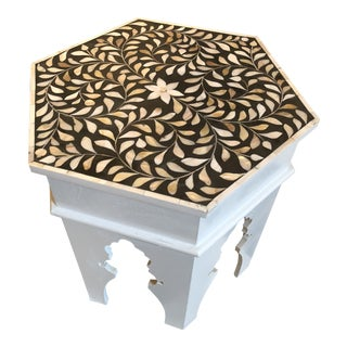 Anglo-Indian Style Mother of Pearl Mosaic Octagonal Table For Sale