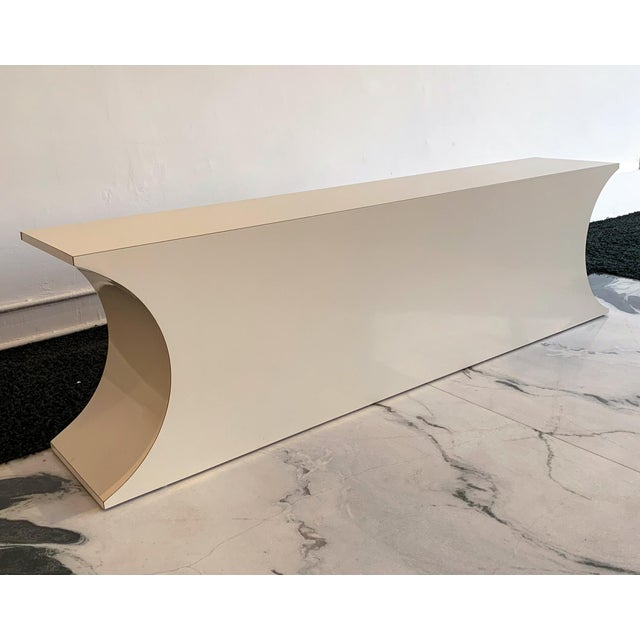 Postmodern Geometric Laminate Console Table For Sale In Los Angeles - Image 6 of 6