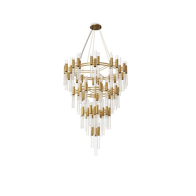 Contemporary Waterfall Chandelier From Covet Paris For Sale - Image 3 of 3