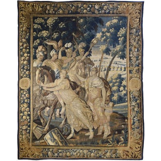 Antique Brussels Tapestry For Sale