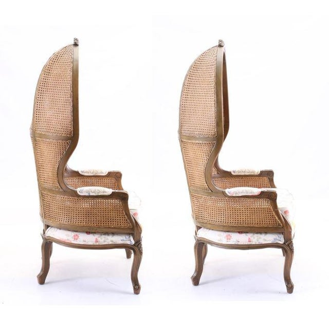 Traditional Vintage Mid Century Fully Cane Backed Porter Chairs - A Pair For Sale - Image 3 of 13