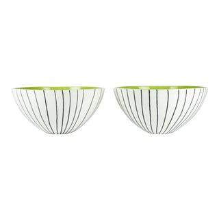 Very Large Italian Porcelain Deco Bowls - a Pair For Sale