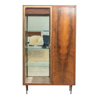 Mid Century Italian Bronze Bar Cabinet For Sale