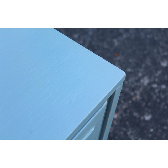 Paint Pair of Campaign Style Nightstands For Sale - Image 7 of 9