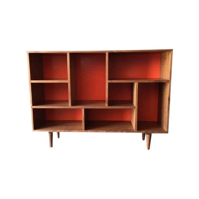 Mid Century Style Walnut Bookshelf - Image 1 of 5