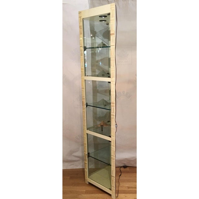 Modern Modern Baker Furniture Company Triangle Vitrine Showcase by Allesandro 1 of 2 For Sale - Image 3 of 5