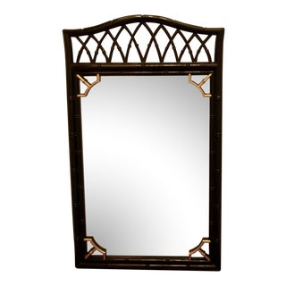 Vintage Mid-Century Thomasville Allegro Chinoiserie Bamboo Chinese Chippendale Mirror For Sale