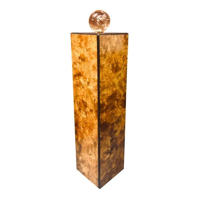 Drexel-Heritage Burlwood Pedestal Display Stand For Sale