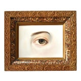 Image of Contemporary Lover's Eye Painting by Susannah Carson in a Marbled Victorian Frame For Sale