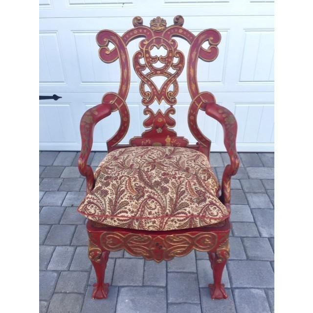 Wood 1940s Vintage Italian Renaissance Chair For Sale - Image 7 of 7
