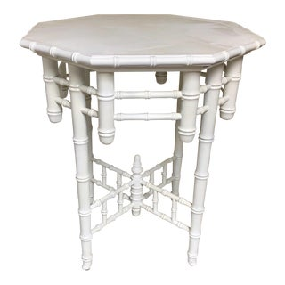 1930s French Faux Bamboo Side Table For Sale