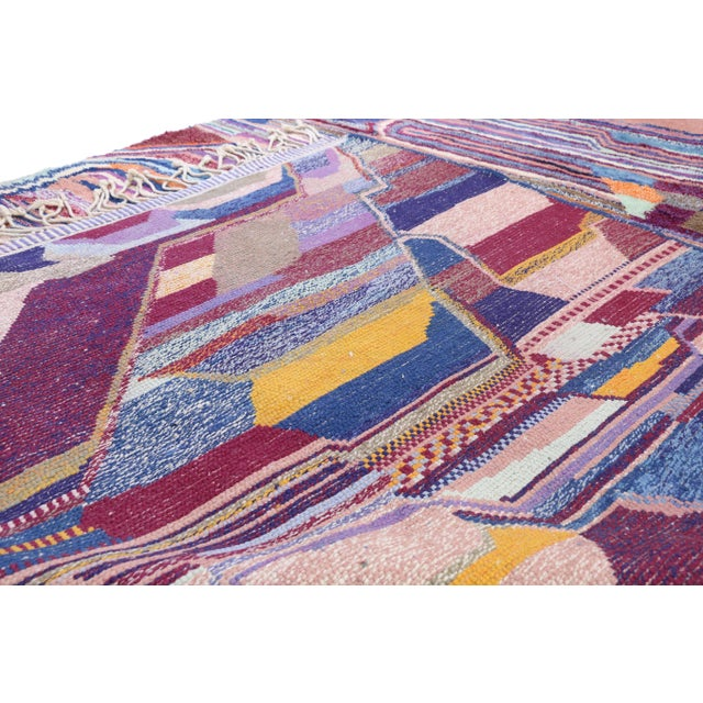 Early 21st Century Contemporary Berber Moroccan Postmodern Memphis Style Rug - 8′10″ × 12′11″ For Sale - Image 5 of 8
