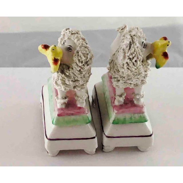 Staffordshire Late 19th Century Staffordshire Poodles Retrieving Birds - a Pair For Sale - Image 4 of 10