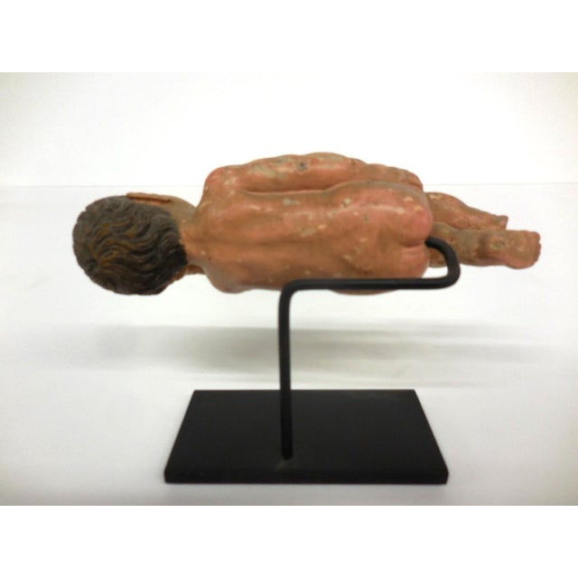 Mediterranean Spanish Colonial Sleeping Nino Sculpture For Sale - Image 3 of 6
