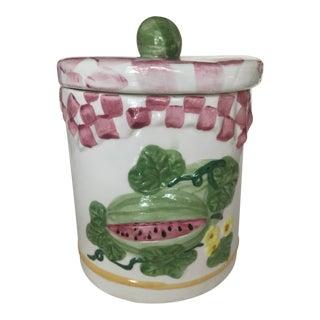 1980's Vintage Watermelon Cookie Jar