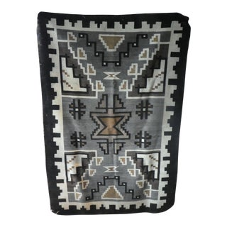Early 20th Century Antique 2 Grey Hills Navajo Rug- 3′3″ × 4′8″ For Sale