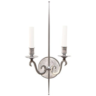 Pewter and Rock Crystal Sconces For Sale