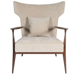 Customizable Morris Winged Back Armchair For Sale
