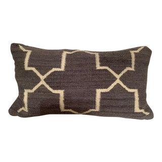 Contemporary Restoration Hardware Moroccan Tile Flatweave Pillow Cover W/Insert Euc For Sale