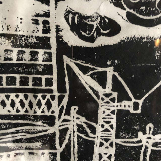 """1980s Chinese Student Woodcut """"My Polluted Homeland"""" For Sale In New York - Image 6 of 8"""