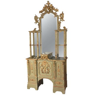Early 19th Century Italian Gilded Display Cabinet For Sale