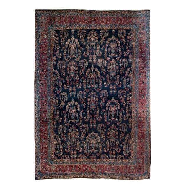 19th Century Yadz Carpet - 8′7″ × 11′ For Sale