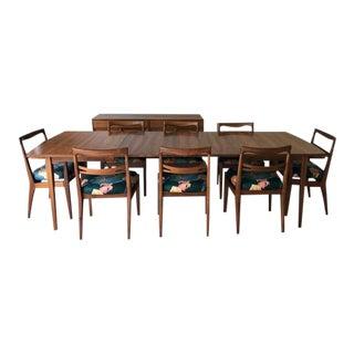 Drexel Mid-Century Modern Walnut Declaration Dining Set