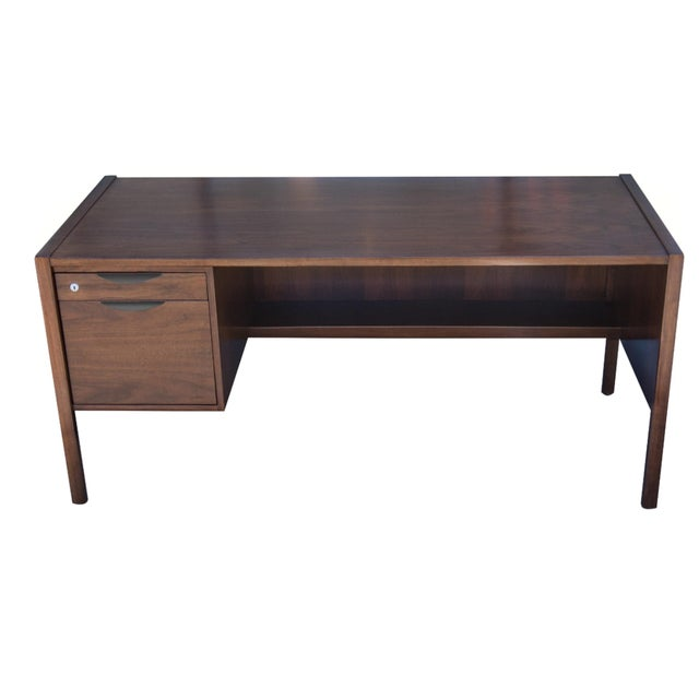 Jens Risom Single Pedestal Desk - Image 1 of 8