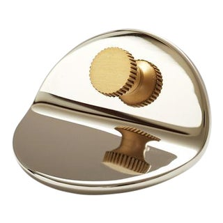 Geo-01 Polished Nickel Knob For Sale