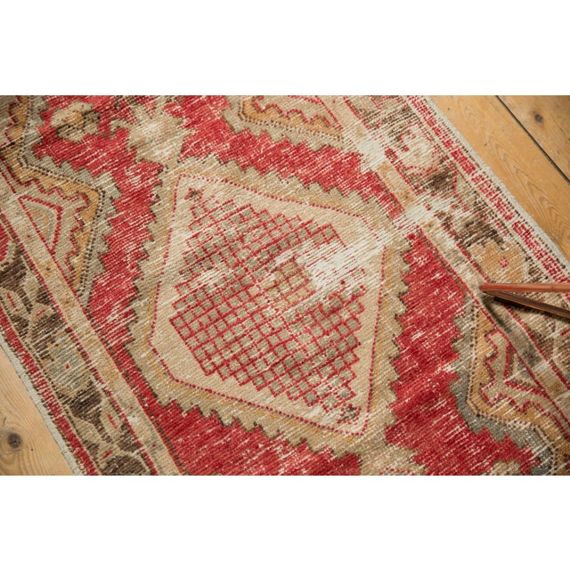 "Vintage Distressed Oushak Rug Runner - 2'5"" X 5' For Sale In New York - Image 6 of 7"