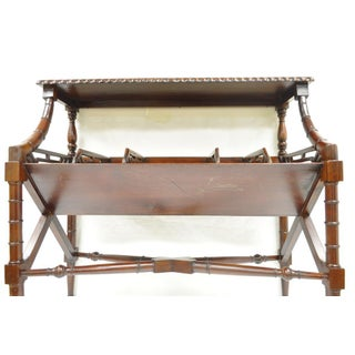 English Chinese Chippendale Style Faux Bamboo Bookcase Magazine Whatnot Stand Preview