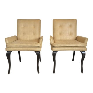 Vintage Woven Leather Chairs, a Pair