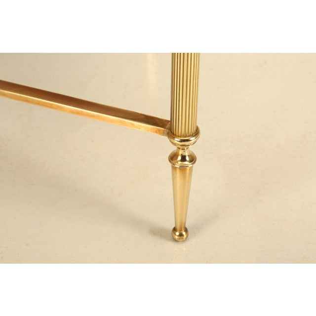 French Mid-Century Modern Coffee or Cocktail Table in Polished Solid Brass For Sale In Chicago - Image 6 of 9