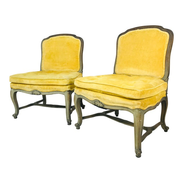 Pair French Slipper Chairs For Sale