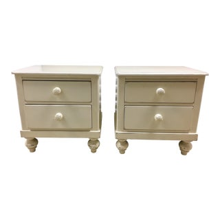 Pottery Barn Lexington Two Drawer Nightstands - A Pair For Sale