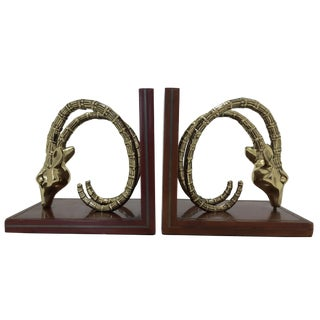 Vintage Ibex Bookends - A Pair For Sale