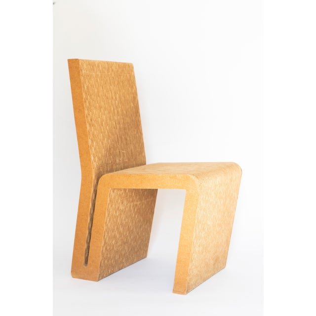 Easy Edges Cardboard Chair by Frank Gehry, Early 1970s Model For Sale - Image 10 of 11