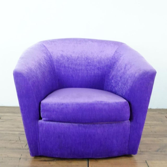 Contemporary Purple Upholstered Chairs- A Pair For Sale - Image 3 of 9
