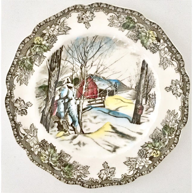 """Mid 20th Century 1950's Johnson Brothers English """"Friendly Village"""" Dinnerware - Set of 17 For Sale - Image 5 of 13"""