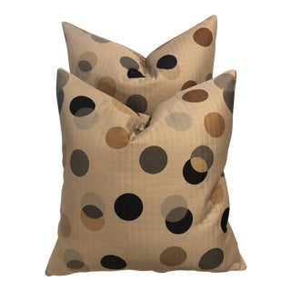 Custom Mid Century Style Accent Pillows - a Pair For Sale