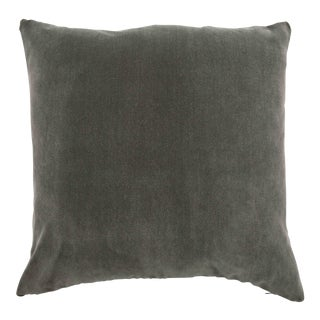 FirmaMenta Italian Solid Gray Velvet Pillow For Sale