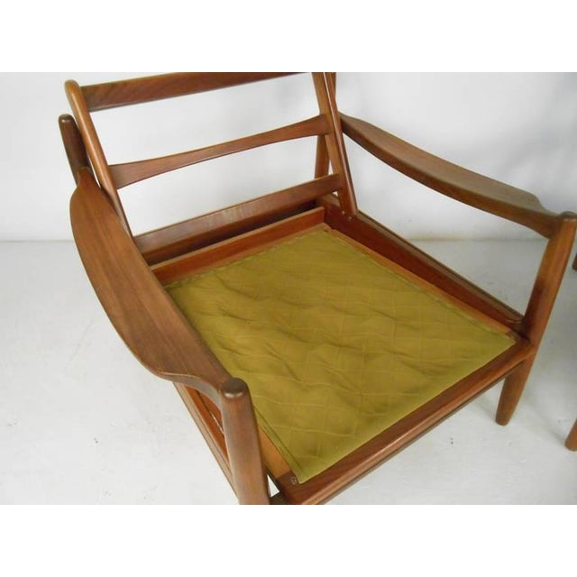 Wood Scandinavian Modern Sofa and Chairs For Sale - Image 7 of 8