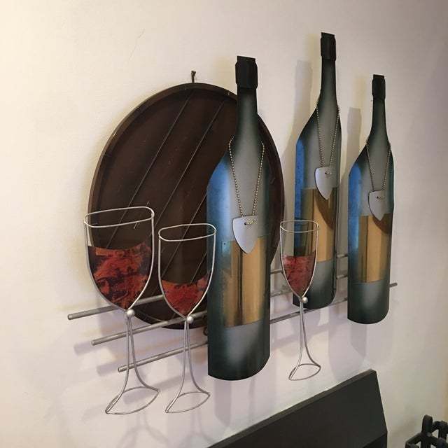 Signed C. Curtis Jere Artisan House Wine Tasting Sculptural Wall Art For Sale - Image 9 of 10