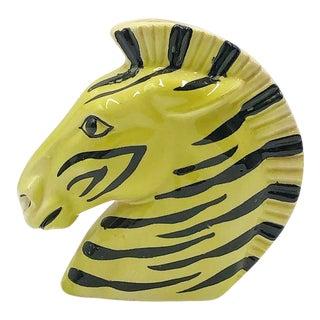 1950s Zebra Head Wall Pocket Vase For Sale