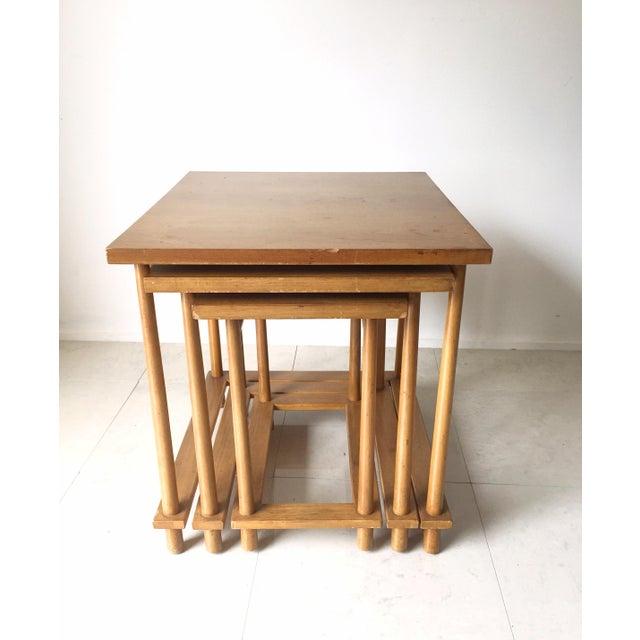 T.H. Robsjohn-Gibbings Nesting Tables - Set of 3 For Sale - Image 5 of 7