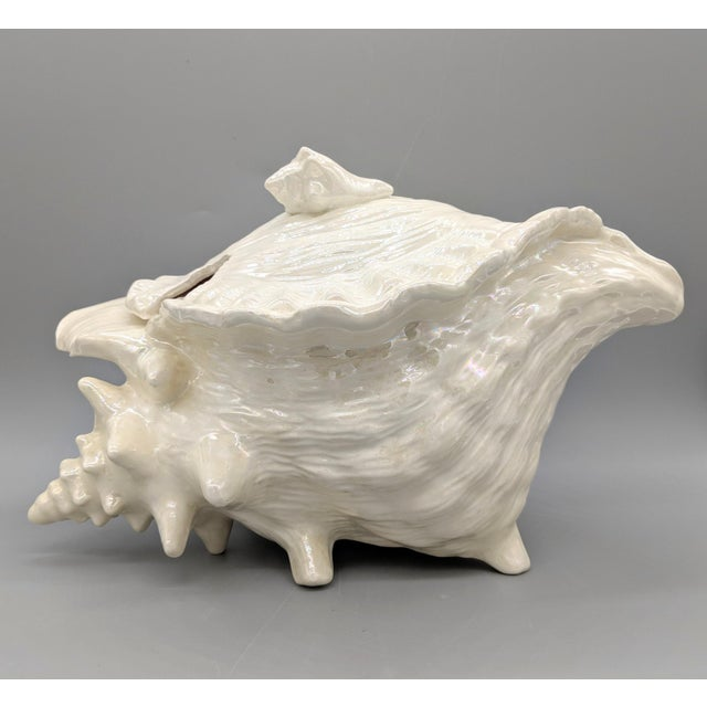 Vintage Mid-Century Conch Seashell Soup Tureen For Sale - Image 12 of 13