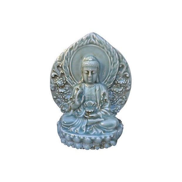 Celadon Buddha Statue - Image 1 of 4