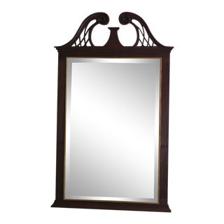 1990s Vintage Henkel Harris Model H-12 Mahogany Mirror For Sale
