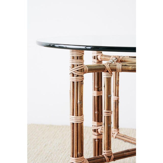 Brown McGuire Organic Modern Bamboo Rattan Dining Table For Sale - Image 8 of 13