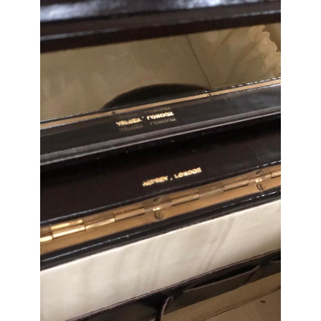 Black Mid 20th Century Vintage Travelling Leather Vanity Case, 1960-1970 by Asprey For Sale - Image 8 of 12